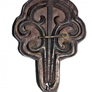 Trompa de fundición de orixe inglesa conservada no museo de Pontevedra. Fotografía do autor.