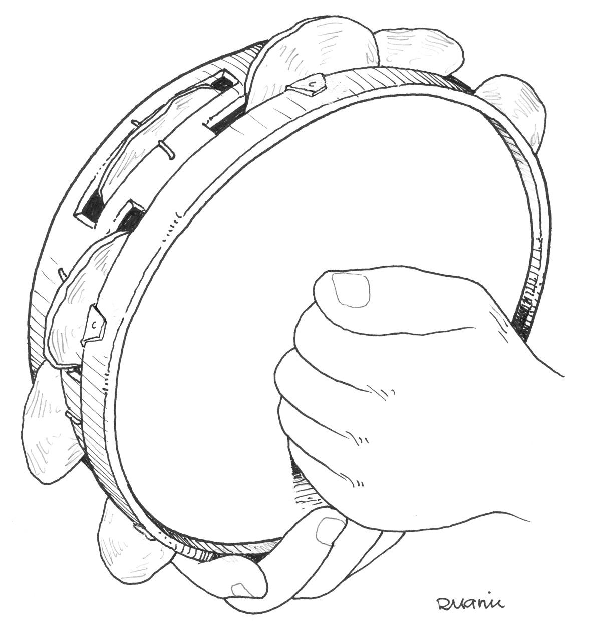 Instrumento de percusion para colorear - Imagui