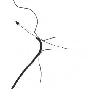 Este esquema amosa  como se debe colocar  a folla para tocar.  Deseño de Ramón Marín.