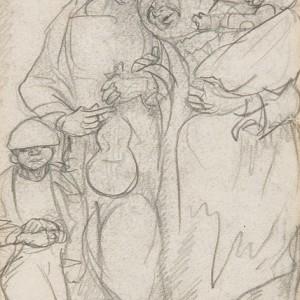 O cego e a súa familia de Alfonso Daniel  Rodríguez Castelao. Museo Provincial de Lugo.