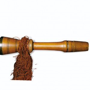 Gaita de barquín conservada no Museo da Música (Lisboa, Portugal)  de procedencia descoñecida. Fotografías do autor.