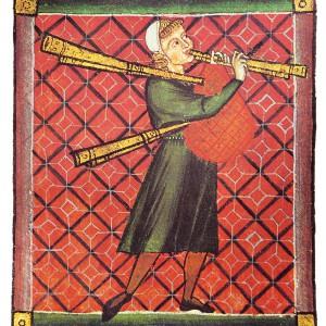 Gaiteiro da cantiga 350. Podería  indicar que na época xa existían instrumentos con varios bordóns.
