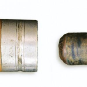 Detalle do sistema de parafuso para o tapón dunha requinta. Fotografía do autor.