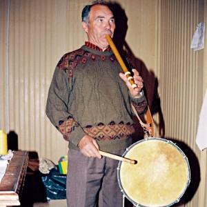 Angelo Arribas, tocador de fraita da Freixiosa (Miranda do Douro, Portugal). Fotografía do autor.