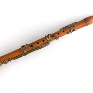 Clarinete de buxo de oito chaves.  Colección do autor. Fotografía Alba Vázquez Carpentier.