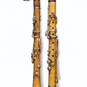 Clarinete e requinto en buxo da colección de José Temprano. Fotografía do autor.