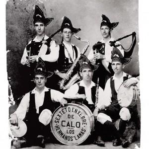 """Sexteto enxebre """"Los Hermanos Lamas"""" (Calo, Teo, A Coruña). Do arquivo da familia Lamas."""