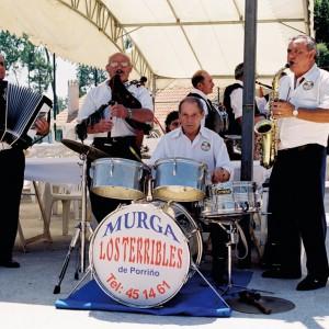 Los Terribles de Porriño, no Encontro de Murgas de Guláns (Pontevedra, 1998). Fotografía do autor.