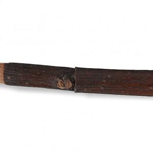 Detalle da lingüeta dunha pipa de castiñeiro enxoita.  Fotografía Alba Vázquez Carpentier.