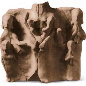 Terracota achada no santuario ibérico  de Cigarralejo (Mula, Murcia, s. V-IV a.C.)  que amosa dúas tocadoras de óboe duplo.