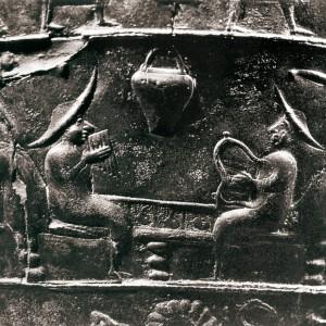 Lira e siringa nunha iconografía  da cultura de La Tène, século VI a.C.