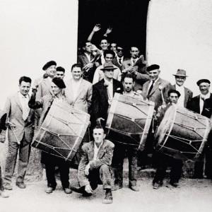 Treboada en Estás  (Tomiño, Pontevedra, c. 1960). Do arquivo do autor.