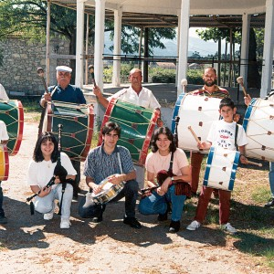 Treboada no concello de Tomiño  (Pontevedra, c. 1995) . Do arquivo do autor.