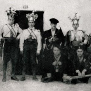 Rancho de reis en Riofrío  (Mondariz, Pontevedra, c. 1950). Do arquivo do autor.