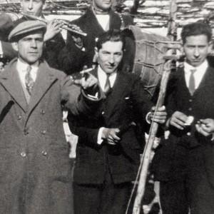 Tocador de charrasco na Ulla (San Pedro de Vilanova, Vedra, c.1920). Arquivo do autor.